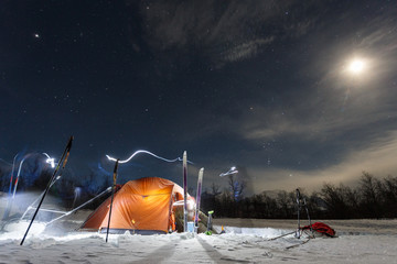 Camping in the wintertime