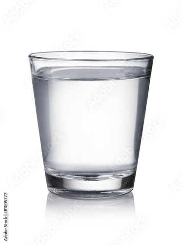 In de dag Water glass of water