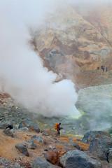 Photographer on a volcano