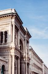 Vittorio Emanuele II Gallery at Piazza del Duomo in Milan