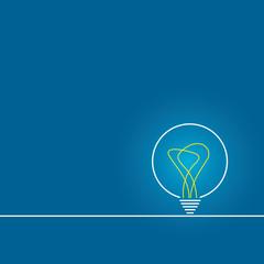 Bulb light idea. background lamp