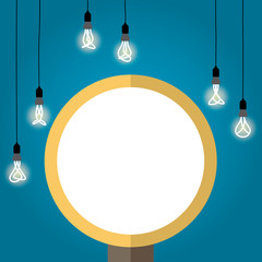 Bulb light idea. background lamp, Vector Illustration