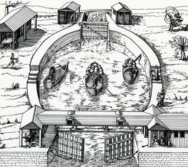 Medieval round lock
