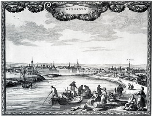 Custom inspection near Dresden, 1640