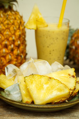 Smoothie with pineapple
