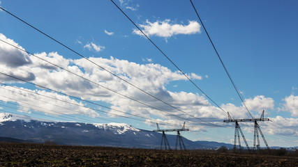 Clouds Over Electricity Pylon