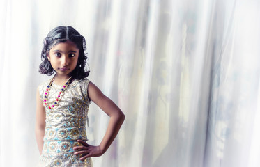 Portrait of Small Girl Child