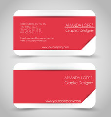 Business card set template for business identity corporate style