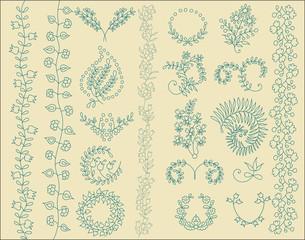 Floral design elements. Floral Collection. Vector