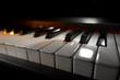 Leinwanddruck Bild - Piano keyboard