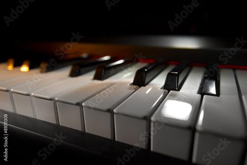 Leinwanddruck Bild Piano keyboard