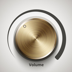 Vector volume knob with gold texture