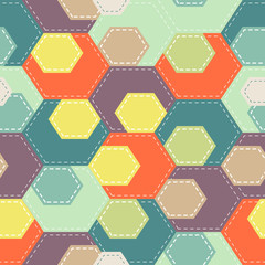 Abstract seamless  colorful background in patchwork style