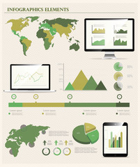 IT Industry Infographic Elements vector illustration