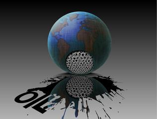 damage to oil production, ecology, globe