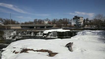 Spring water falls