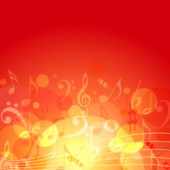 Fire color themed music background