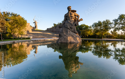 Monument Stay to Death in Mamaev Kurgan, Volgograd, Russia - 81015321