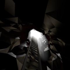 洞窟とはしご