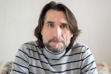 Portrait of bearded middle-aged men