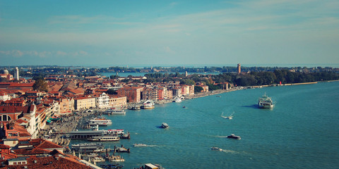 View on the Gulf of Venice from Campanile of Florence Cathedral.