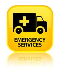 Emergency services yellow square button