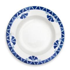 Assiette rétro décor géométrique