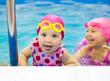 kids  swim in pool