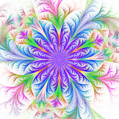 Beautiful multicolored fractal flower. Collection - frosty patte
