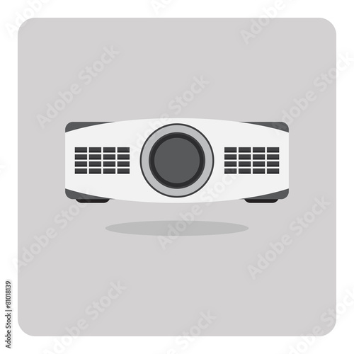 Vector of flat icon, projector on isolated background - 81018139