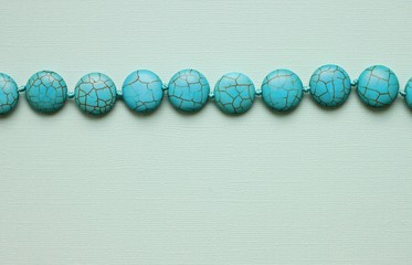 thread od blue stone beads