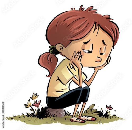 "niña aburrida y triste"" Stock photo and royalty-free images on ..."