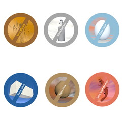French stickers for allergen free products