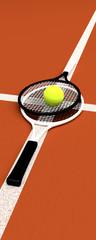 Tennis; rackets; sphere; ground.