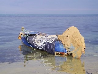 Fishing boat in Tunisia, Cap Bon.