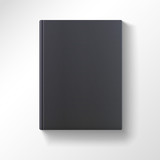 Blank black book isolated