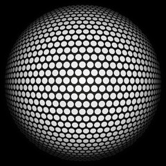 Dotted halftone sphere.