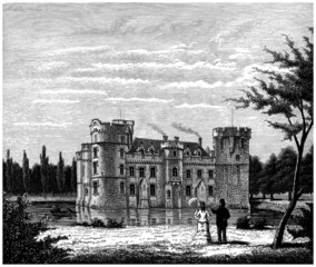 Visiting an old Castle - 19th century
