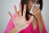 Flu cold or allergy symptom poster