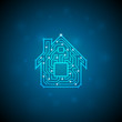 Circuit board house icon. Home automation concept - 81021169