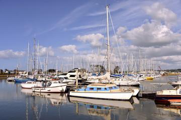 Port of Perros-Guirec in France