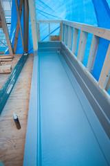 木造住宅の建設 ベランダ工事