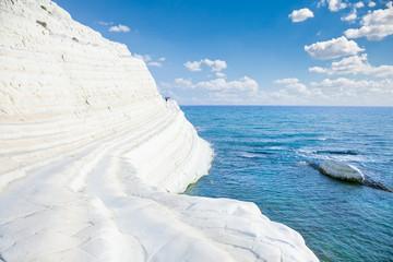 White beach. Scala dei Turchi on Sicily