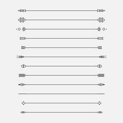Set of geometric lines, vector illustration.