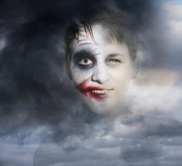 Doppelbleichtung Portrait - Halloween
