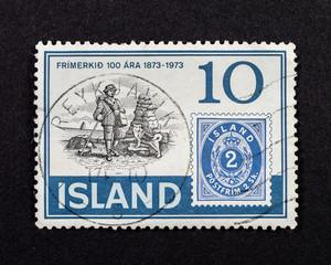 Post stamp of Island
