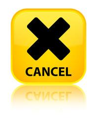 Cancel yellow square button