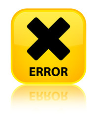 Error (cancel icon) yellow square button