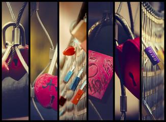 Liebesschlösser Collage