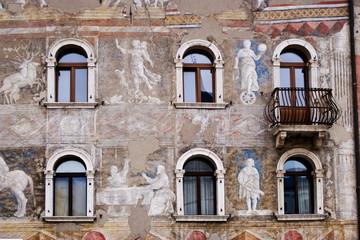 Facade of an ancient building, Trento